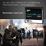 Silicon Power 128GB CFast2.0 CinemaPro CFX310 Memory Card, 3500X and up to 530MB/s Read, MLC, for Blackmagic URSA Mini… 10 EXCELLENT PERFORMANCE FOR 4K UHD CINEMATIC CAMERAS AND PROFESSIONAL CAMCORDERS- Designed for professional photographers and videographers, the CFX310 features superior performance that enables uninterrupted and cinema-quality 4K video recording. BLACKMAGIC APPROVED- Blackmagic approved and 2160p ProRes 422 HQ 60fps certified. The CFX310 delivers ultra-fast speed of up to 530 MB/s read that lets you quickly transfer large files from the card to your computer. MULTIPLE TECHNIQUES SUPPORTED - Supports Power Shield/ Global Wear-Leveling/ Advanced Garbage Collection/ TRIM /DEVSLP