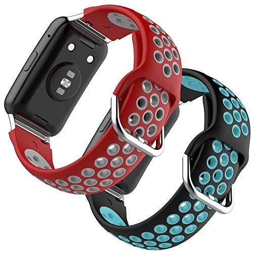 Shieranlee Correa Compatible con Huawei Watch Fit, Suave Silicona Banda Deportiva Correa Repuesto Impermeable Pulsera para Huawei Watch Fit Smartwatch para Mujeres Hombres
