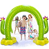 Vimite Water Sprinkler for Kids, Cactus Kids Sprinkler for Yard,100'X 65' Inflatable Sprinkler,Large Arch Toddler Sprinkler with Environmental Friendly PVC Material Outdoor Toys for Toddlers Big Kids