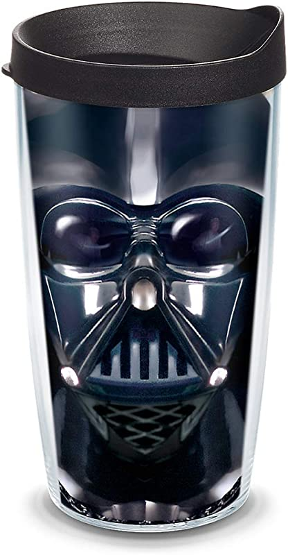 Tervis 1141872 Star Wars Darth Vader Tumbler With Wrap And Black Lid 16oz Clear
