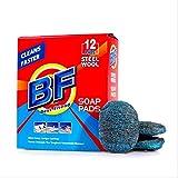 Good wife 12 Stück Stahlwolle Seifenpads, 100% Reinigung Dekontamination – keine Schäden an der...