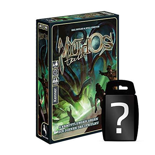 yvolve Mythos Tales - Grundspiel - Brettspiel | DEUTSCH | H. P. Lovecraft Cthulhu | Set inkl. Kartenspiel