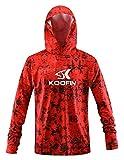 Performance Fishing Hoodie Long Sleeve Hooded Sunblock Shirt Outdoor UPF50 Dry Fit...