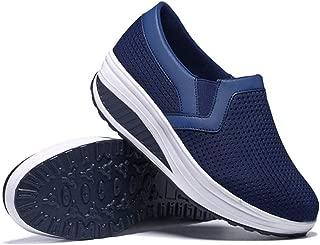 Unparalleled beauty Women Walking Shoes Running Breathe Mesh Shoes Cushion Platform Slip-On Sneaker