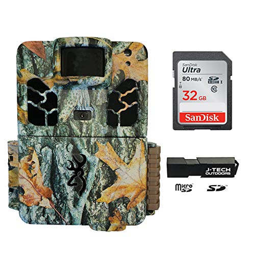 Browning Dark Ops HD Pro X (2019) Trail Game Camera Bundle Includes 32GB Memory Card and J-TECH Card...
