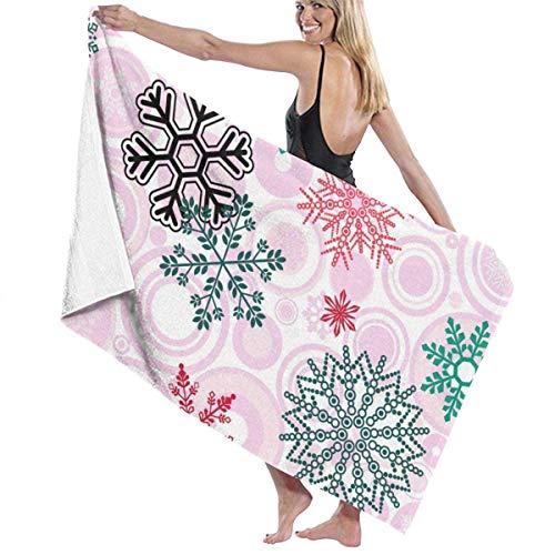 Toallas Shower Towels Beach Towels Bathroom Towels Toalla De Baño Toallas de playa de copo de nieve rosa Sábanas de baño Toalla 130 x 80 CM