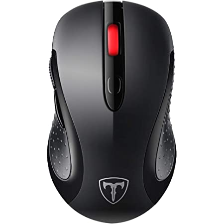 VicTsing Wireless Mouse for Laptop, 2.4G Portable USB Mouse Computer Mouse, Fit Hand Nicely, 5 Adjustable DPI, Page Down/Up Buttons, 20 Months Battery Life , Designed for PC, Desktop, Laptop(Black)
