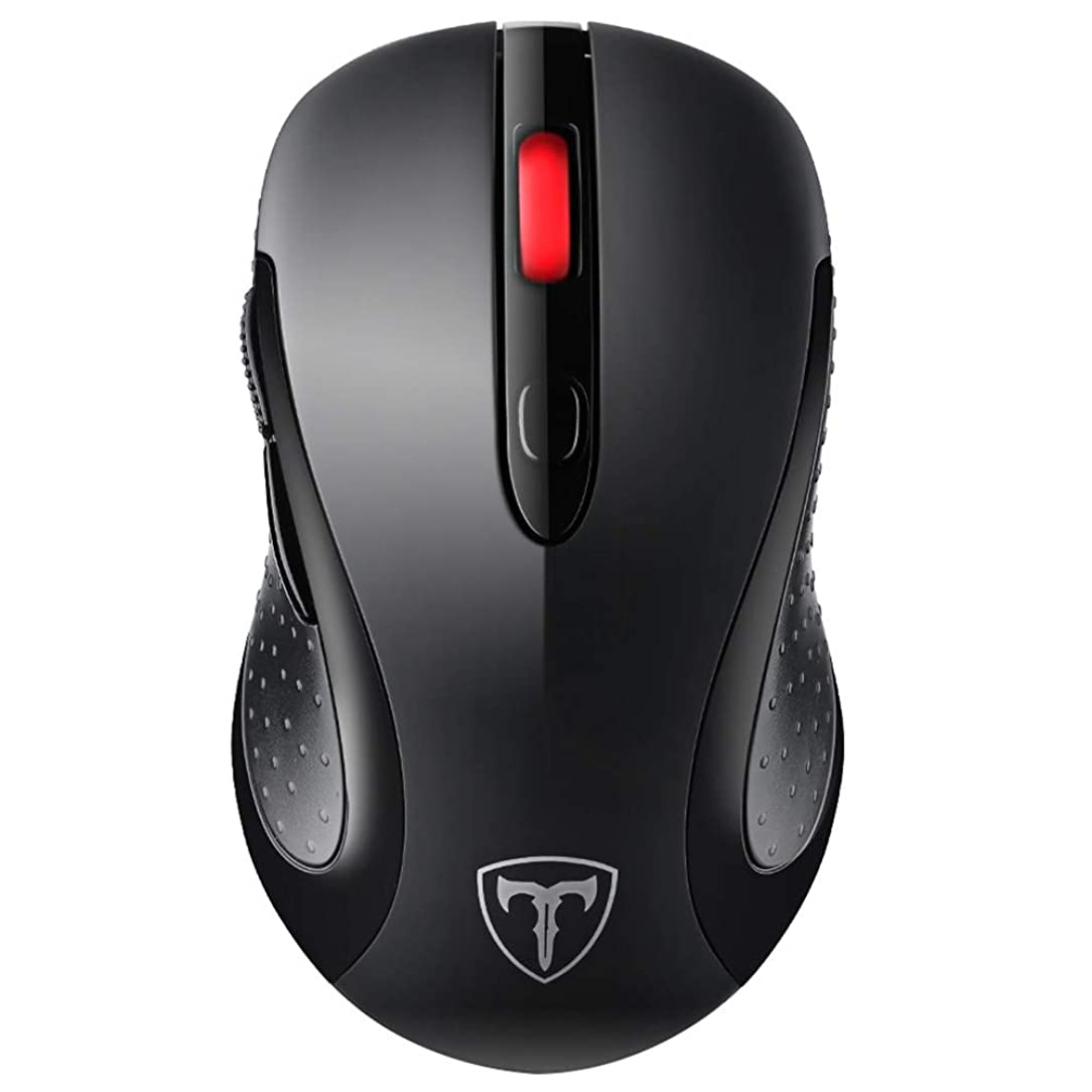 VicTsing 2.4G Wireless Mouse Wireless Optical Laptop Mouse with USB Nano Receiver, 6 Buttons,5 Adjustable DPI Levels,15 Months Battery Life, Ideal for Work, Study and Sport Fan