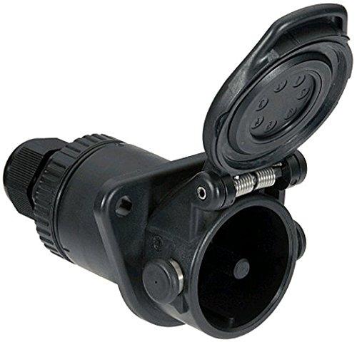HELLA 8JB 011 895-001 Steckdose für Fahrzeuge mit ABS/EBS, Kabel Ø 9-16 mm, 7 –polig, 12 V