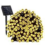 Solar Lichterkette Aussen, BrizLabs 22M 200 LED Solarlichterkette Weihnachten Wasserdicht Außenlichterkette 8 Modi Solar Beleuchtung Deko für Garten, Terrasse, Yard, Haus, Hochzeit, Warmweiß