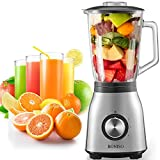 BONISO Countertop Smoothie Blender, High Speed Blender for Kitchen with 51Oz Glass Jar 6 Stainless...
