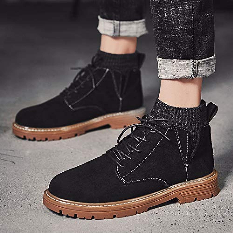 LOVDRAM Boots Men's New Martin Boots Men'S Fashion shoes Men'S shoes High shoes Fashion Men'S Snow Boots Men'S shoes