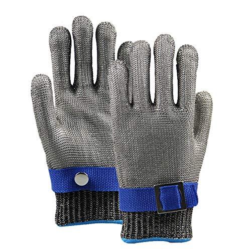 Schnittfeste Handschuhe 316L Stahldraht Anti-Schneidhandschuhe, Sicherheitsarbeitshandschuhe Zum Angeln, Holzschnitzerei, Fleischverarbeitung, Glasschneiden, 2 Stück (Size : Medium)