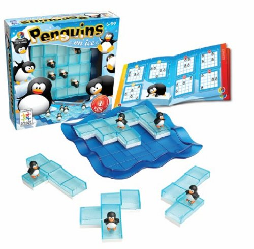SmartGames Penguins on Ice - A Sliding Cognitive Skill-Building Puzzle Game for Ages 6 - Adult