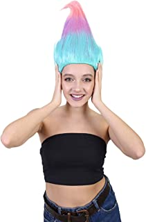 Colorful Pointy Troll Wig Collection, Multiple Color Options, Breathable Capless Design, Multiple Size Options