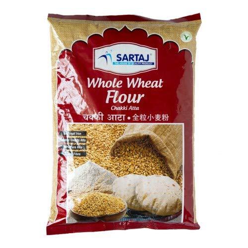 サルタージ 全粒粉 1kg チャパティーに最適なインド産のアタ 小麦粉 パン用 パラタ CHAKKI ATTA Whole Wheat Flour