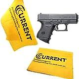 Current Gun Wipe Gun Cleaning Supplies Gun Rags 2 Pack Gun Care Silicone Cleaning Cloth Size 12'x12',Firearm Accessories Cleaning Products (Gun Cloths) (Yellow)