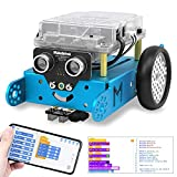 Makeblock mBot Robot Kit for Ages 8+, DIY Mechanical Building Blocks, Entry-level Programming Helps Improve Children' s Logical Thinking and Creativity Skills, STEM Education. (Blue, Bluetooth Version