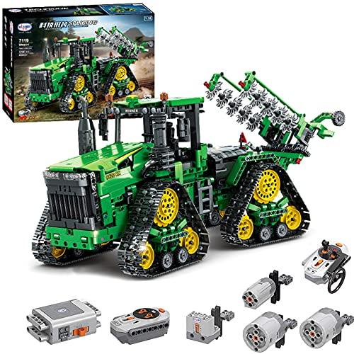 Technik Ferngesteuert Traktor, 1706 Teile Technic Groß Motorisierter Traktor Modell für 9620 RX Bausteine Klemmbausteine Bauset Kompatibel mit Lego Technik