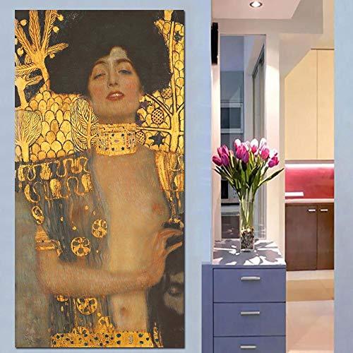 HGlSG (No Frame) 40x60cmNielly Francoise Obra de Arte decoración de la Pared Pintura al óleo Retrato Cara Arte decoración del hogar Moderno Lienzo Impreso Pintura und