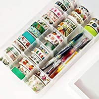 YANHUA PP Transparent Washi Tape Storage Box Washi Tape Scrapbooking Stationery Accessories School Supplies Set Diy Tools