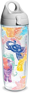 Tervis Mehndi Elephant Wrap Clear Inner 24oz Water Bottle with Grey Wb Lid