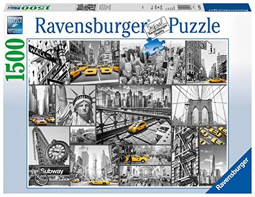 Ravensburger Macchie di Colore a New York, Puzzle 1500 pezzi, Relax, Puzzles da Adulti, Dimensione: 80x60 cm, Stampa di alta qualità, Travel, City