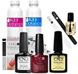CND Shellac Starter Kit Top, Base, Essential e Decadence