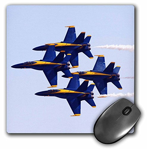 3dRose LLC 8 x 8 x 0.25 Inches Blue Angels at Air Show Mouse Pad (mp_60480_1)