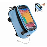 Roswheel Road Mountain Bike Bag Pannier Classic Mini Cycling Bicycle Front Tube Bags for Men Women for iPhone 4 5 6 7 Plus 8 8plus X Samsung Huawei,S M L (Blue, L for Less 5.7' Phone)