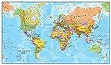 Maps International - Mapa del mundo, póster político con el mapa del mundo, plastificado - 84,1 x...