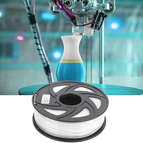 Materiales de impresión 3D de filamento, Material de impresión, filamento durable blanco de la impresora del alambre del PLA para la decoración casera para el juguete para el regalo