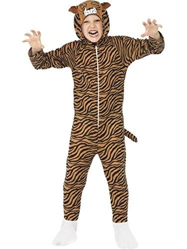 Smiffys Costume de tigre, brun, tout-en-un avec capuche