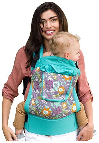 LÍLLÉbaby 4-in-1 Essentials Original Ergonomic Baby & Child Carrier, Lily Pond - 100% Cotton