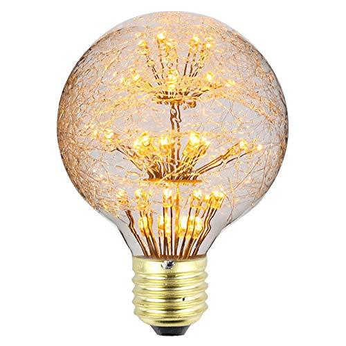 Tianfan LED-Leuchtmittel, Vintage-Leuchtmittel, Feuerwerk, Mond, RGB, Warmweiß, dekorative Leuchtmittel, 3 W, 220/240 V, E27, glas, G80, E27