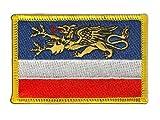Flaggenfritze Flaggen Aufnäher Deutschland Stadt Rostock Fahne Patch + gratis Aufkleber