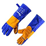 Welding Gloves Heat Resistant Leather Forge Mig/Stick Gloves With Kevlar Stitching