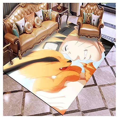 Alfombra Estera De La Puerta Rectángulo Sala De Estar Sofá Área del Dormitorio De Los Niños Mesita De Noche Comedor Estudio Dibujos Animados Naruto Animación Terciopelo De Cristal