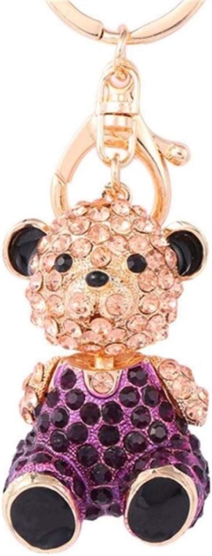MEIDI Home Home Home Handtasche Anhänger Auto Schlüsselanhänger Souvenir Geschenk für Kinder Mädchen Frauen Birthday_lila Sitting Bear Diamond Alloy Keychain B07MNC4FTR d815c6