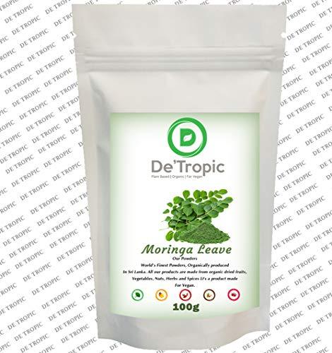 D Detropic, Moringa Leaf Powder | Antioxidants | Premium Quality (100g)