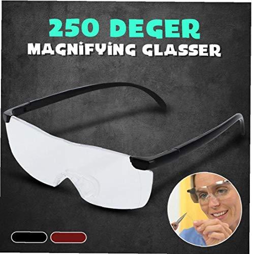 Aisoway 250% Gran Visión Lupas Lupa Lente Completa Gafas de Seguridad