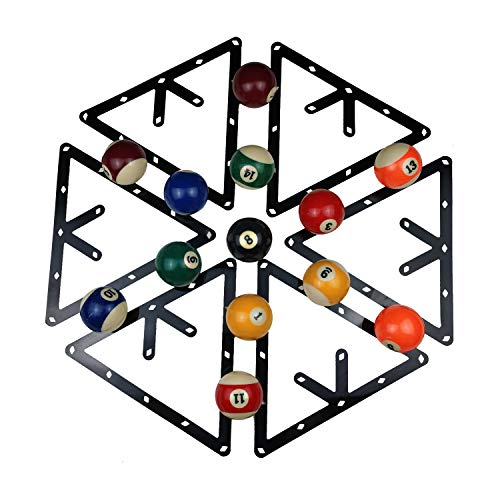 BALIKEN 6Pcs/Set Triangle Rack Pool Table Ball Holder Positioning Rack Billiard Accessory Magic Ball Rack Holder Sheet Billiards Triangle Cue Accessories