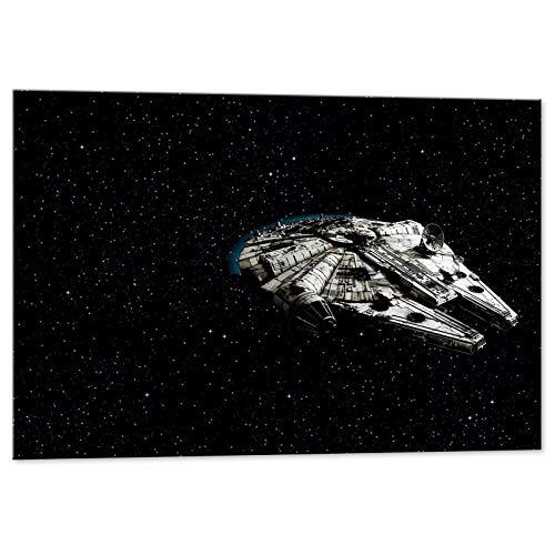 Dibujo De Halcón Milenario De Star Wars, Impresión En Lienzo, Sw050 - Kuaderstarw, 70x50 cm