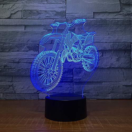 Neue Offroad Motorrad fahrradförmigen nachtlicht neuheit tischlampe farbsensor tischlampe als Urlaub Geburtstagsgeschenk