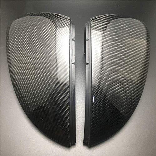 Cubierta de repuesto para espejo retrovisor retrovisor lateral del coche, fibra de carbono, para VW Golf 7, MK7 R GTI VII 2013 2014 2015 2016 2017 (negro)