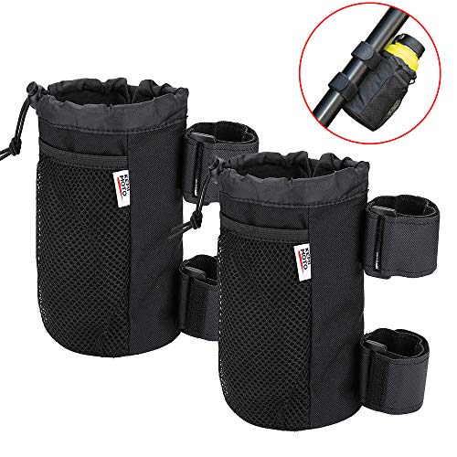 2 pcs UTV Roll Bar Cup Holder Walker Stroller Rollator Wheelchair Drink Holder Collapsible Adjustable Bottle Compatible with Kawasaki Mule RZR Ranger1000 900 800 700 500 X3 Commander Defender
