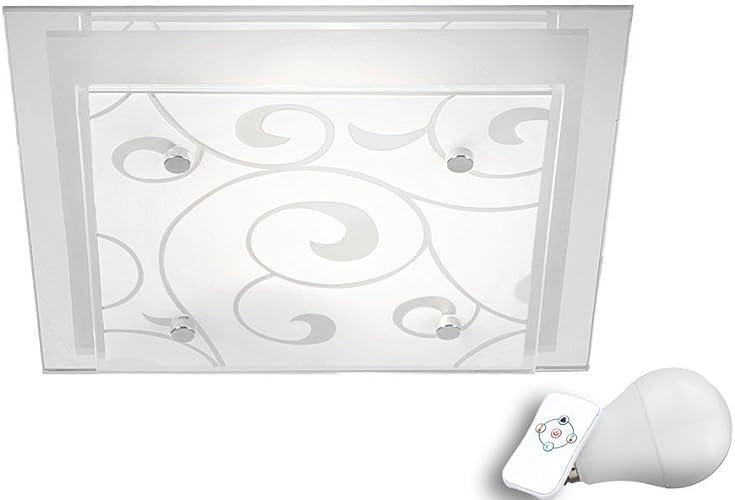 Couvrir le changeur de couleurs lampe verre décor du jeu y compris alliage léger RGB LED