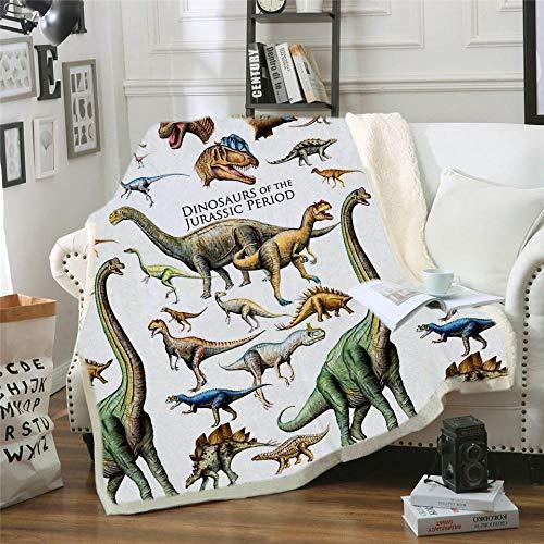 Nueva Manta Velet Throw Family con Capucha de Dinosaur Family para niños Jurassic Park Dinosaur Sherpa Fleece Blanket Microfiber Fabic Blanket