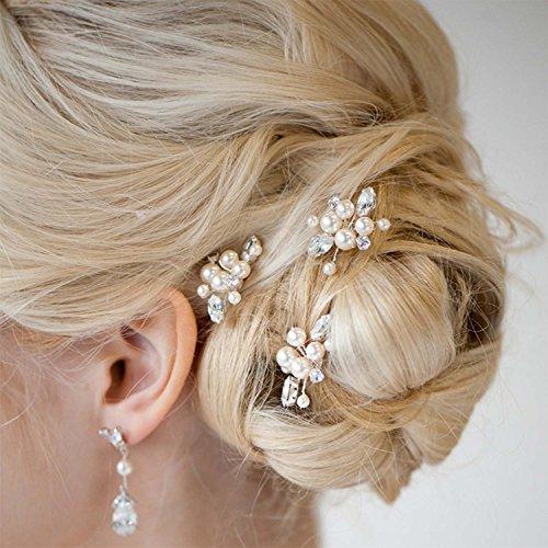 Aukmla Damen Haarschmuck, Brautschmuck, Haarnadeln, 3 Stück