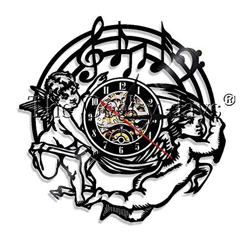 FDGFDG Musikzimmer Dekoration Klavier Vinyl Uhr Wanduhr modernes Design Musik Thema Dekoration Uhr Musikliebhaber handgemachte Geschenke